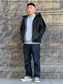 LINKS UMEDA店の数斗さんのの【再値下げ Winter sale】DEEP FREEZE パーカーを使ったコーディネート