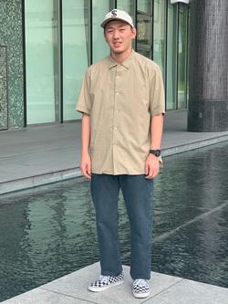 LINKS UMEDA店の中川 数斗さんのEDWINのインターナショナルベーシック 403 ふつうのストレートを使ったコーディネート