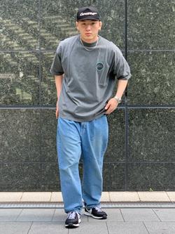 LINKS UMEDA店の中川 数斗さんのEDWINのYELLOW TAB ベルトタック ボンタンを使ったコーディネート
