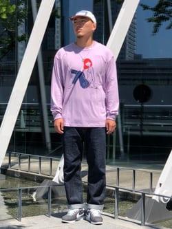 LINKS UMEDA店の中川 数斗さんのEDWINの【ユニセックス】EDWIN x 白根ゆたんぽ アーティストコラボTシャツを使ったコーディネート