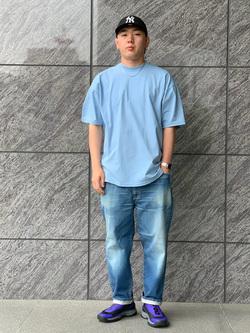 LINKS UMEDA店の中川 数斗さんのEDWINのレギュラーテーパード デニムパンツ (アンクル丈)を使ったコーディネート