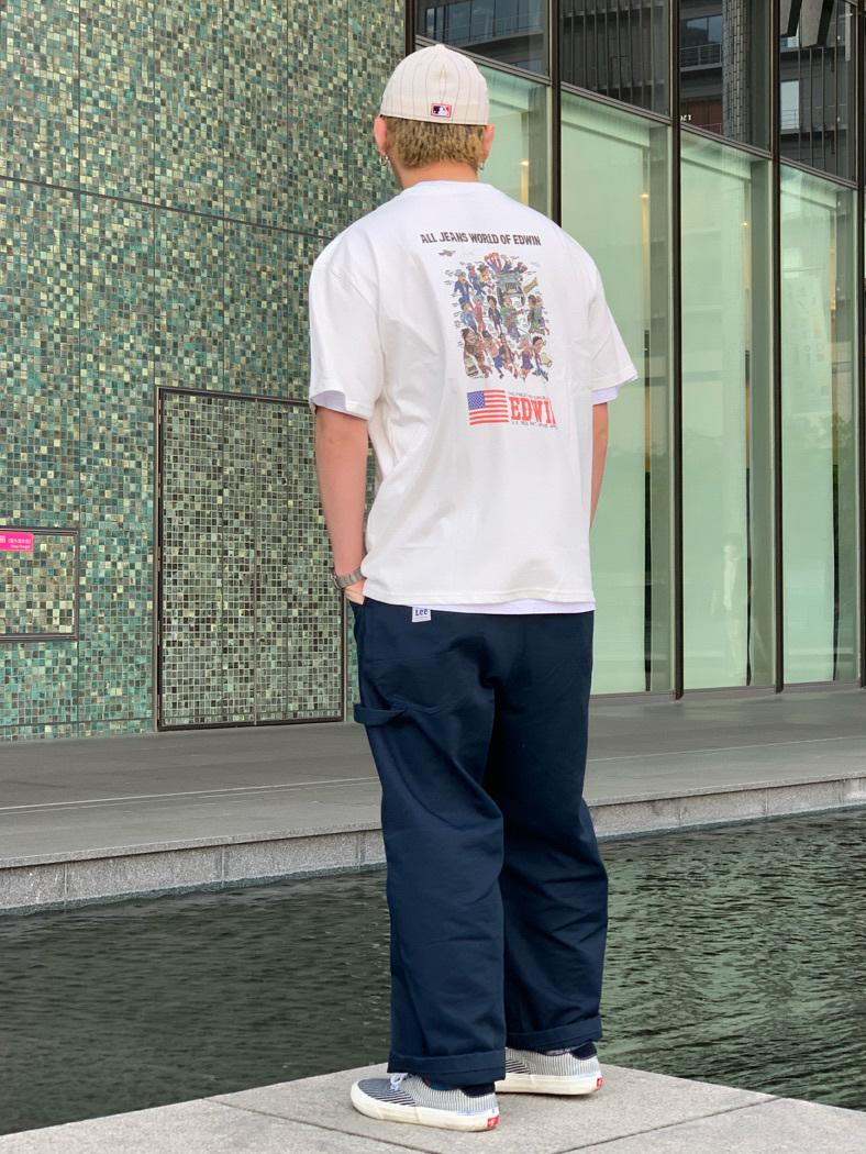 LINKS UMEDA店の中川 数斗さんのEDWINの【EDWIN 60周年限定】 クルーネック 半袖Tシャツ Bを使ったコーディネート