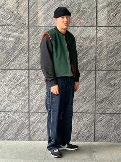 LINKS UMEDA店の数斗さんのEDWINの【直営店限定】オーバーオール【ユニセックス】を使ったコーディネート