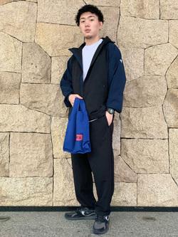 LINKS UMEDA店の数斗さんのEDWINのF.L.E デルタジャケット (三層防風ニット)を使ったコーディネート