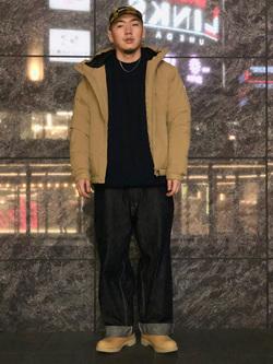LINKS UMEDA店の数斗さんのEDWINのF.L.E エアーサックジャケット (二層防風)を使ったコーディネート