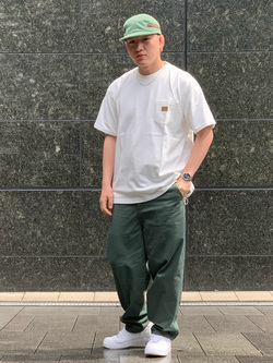 LINKS UMEDA店の中川 数斗さんのEDWINのラベルポケット クルーネック 半袖Tシャツを使ったコーディネート