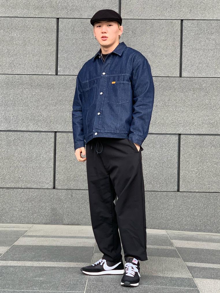 LINKS UMEDA店の中川 数斗さんのEDWINの【通販限定】YELLOW TAB BOXフィット デニムジャケットを使ったコーディネート
