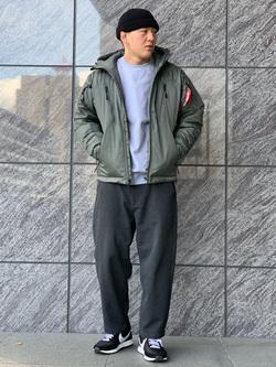 LINKS UMEDA店の数斗さんのEDWINの【再値下げ Winter sale】ジャージーズ チノ ワイドを使ったコーディネート
