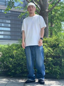 LINKS UMEDA店の数斗さんのEDWINの505 ワイドストレートを使ったコーディネート