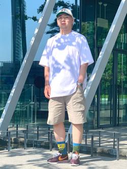 LINKS UMEDA店の中川 数斗さんのEDWINのカーゴ ショートパンツを使ったコーディネート