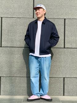 LINKS UMEDA店の中川 数斗さんのEDWINの【コンセプトショップ限定】ZIP UP JKTを使ったコーディネート
