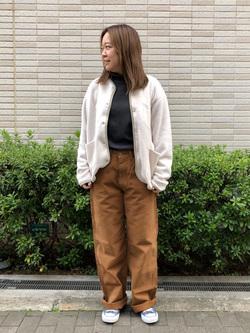 堀江店のチャンハタさんのLeeの【ユニセックス】【やわらかフリース】ノーカラージャケットを使ったコーディネート