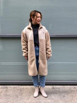 堀江店のチャンハタさんのLeeの【ユニセックス】【着回し力抜群】フリース コートを使ったコーディネート