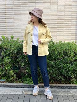 堀江店(閉店)のチャンハタさんのLeeの【SALE】【セットアップ対応】シャツジャケットを使ったコーディネート