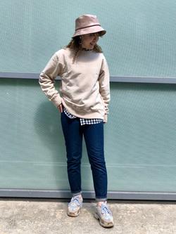 堀江店のチャンハタさんのLeeのベーシック ボタンダウンシャツ/長袖を使ったコーディネート