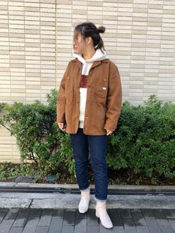 堀江店のチャンハタさんのLeeの【Pre sale】【ヘビーウエイト】プリントパーカー3を使ったコーディネート