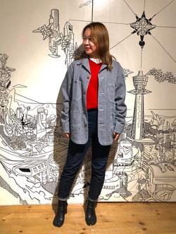 堀江店のチャンハタさんのLeeのカバーオールジャケットを使ったコーディネート