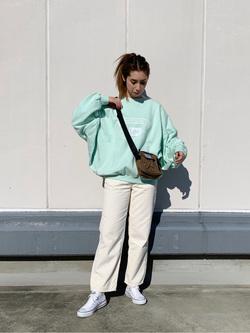 エスパル仙台店のeriさんのLeeの【再値下げ Winter sale】ビッグフィット トレーナー/スウェットを使ったコーディネート