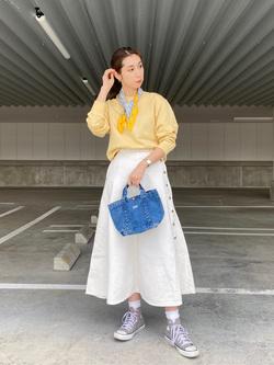 エスパル仙台店のeriさんのLeeのワンポイントロゴ刺繍スウェット/トレーナー【ユニセックス】を使ったコーディネート