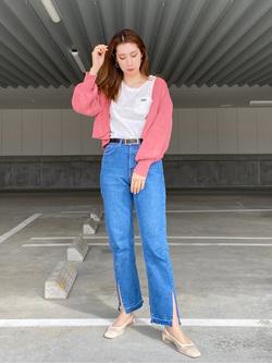 エスパル仙台店のeriさんのLeeのワンポイントロゴ刺繍 半袖Tシャツを使ったコーディネート