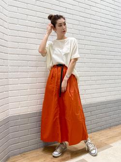 エスパル仙台店のeriさんのLeeの【Lee×GRAMICCI(グラミチ)】ロングスカートを使ったコーディネート