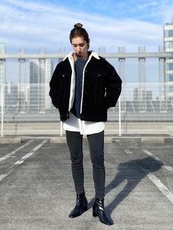 エスパル仙台店のeriさんのLeeのミリタリー パッチワークセーターを使ったコーディネート