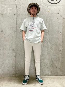錦糸町PARCO店のつなさんのEDWINのEDWIN x タケウチアツシ アーティストコラボTシャツを使ったコーディネート