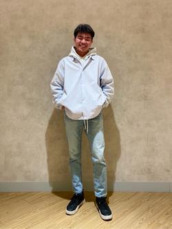 錦糸町PARCO店のつなさんのEDWINのコーチジャケット (BOXフィット)を使ったコーディネート