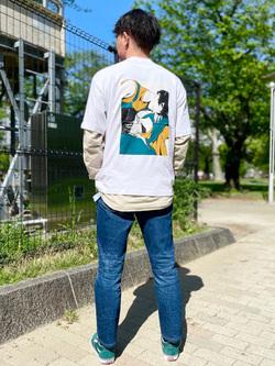 錦糸町PARCO店のつなさんのEDWINのEDWIN x ますだみく アーティストコラボTシャツを使ったコーディネート