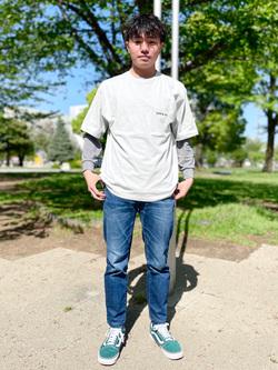 錦糸町PARCO店のつなさんのEDWINのEDWIN x ニシクボサユリ アーティストコラボTシャツを使ったコーディネート