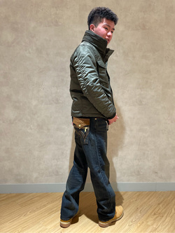 錦糸町PARCO店のつなさんのの【Winter sale】M-65 リブジャケットを使ったコーディネート