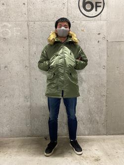 錦糸町PARCO店のつなさんのALPHAのN-3B タイトジャケットを使ったコーディネート