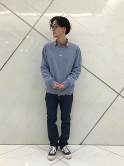 熊本COCOSA店のSHOGOさんのLeeの【SALE】AMERICAN RIDERS 203 テーパードを使ったコーディネート