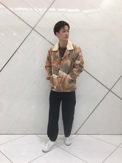 熊本COCOSA店のSHOGOさんのLeeのパッチワーク ボアジャケットを使ったコーディネート