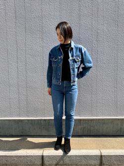 堀江店のRieさんのLeeのSTANDARD WARDROBE RIDERS デニムジャケットを使ったコーディネート