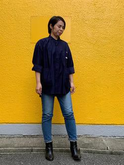 DENIM GALAXY南堀江店のRieさんのLeeのビッグポケット シャツジャケットを使ったコーディネート