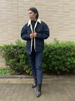 堀江店のRieさんのLeeのBOA STORM RIDER ジャケット【デニム】を使ったコーディネート