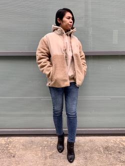堀江店のRieさんのLeeの【Winter sale】【ユニセックス】フリースジップアップジャケットを使ったコーディネート