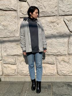 堀江店のRieさんのLeeの【Winter sale】ルーズフィット パーカーを使ったコーディネート
