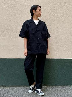 DENIM GALAXY南堀江店のRieさんのEDWINの歩クール イージーパンツ レギュラーテーパードを使ったコーディネート
