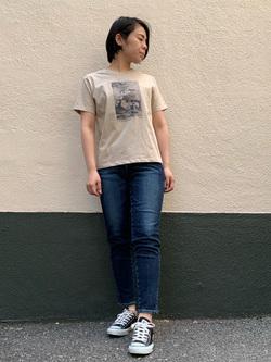 DENIM GALAXY南堀江店のRieさんのSOMETHINGのSOMETHING CLAUDIA スリムを使ったコーディネート