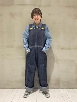 アミュプラザおおいた店のKahoriさんのLeeの【シークレットセーール!!】BUDDY LEE オーバーオール【ユニセックス】を使ったコーディネート