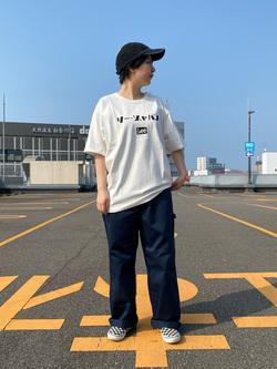 アミュプラザおおいた店のKahoriさんのLeeの【ガレージセール】Lee×Dickies ドッキングワークパンツ2【ユニセックス】を使ったコーディネート