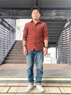DENIM GALAXY日暮里店のAzumaさんのEDWINの驚きのストレッチデニム レギュラーテーパードを使ったコーディネート