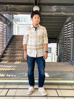 DENIM GALAXY日暮里店のAzumaさんのEDWINの【コンセプトショップ限定】REGULER TAPERED ボタンフライ 【レングス81.5cm】を使ったコーディネート