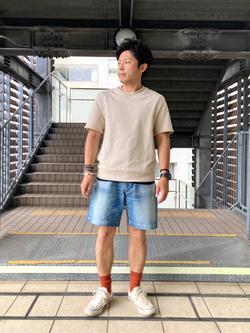 DENIM GALAXY日暮里店のAzumaさんのEDWINのレギュラーデニムショートパンツを使ったコーディネート