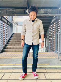 DENIM GALAXY日暮里店のAzumaさんのEDWINの503 スリムテーパードを使ったコーディネート