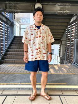 DENIM GALAXY日暮里店のAzumaさんのEDWINの【SALE】アロハ 半袖シャツを使ったコーディネート
