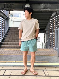 DENIM GALAXY日暮里店のAzumaさんのEDWINのアスレチック ショートパンツ(ストレッチコール)を使ったコーディネート