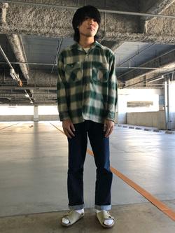 アミュプラザおおいた店のRyutaさんのLeeの【さらっと羽織れる】シャツジャケットを使ったコーディネート